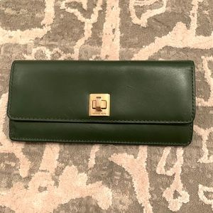 Emerald green Michael Kors wallet